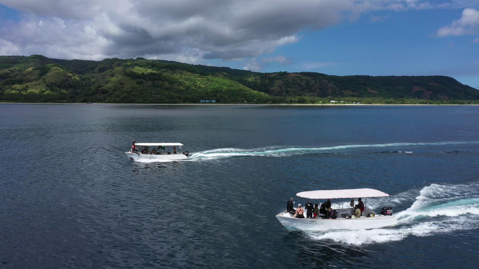 Alami Alor speedboats side by side