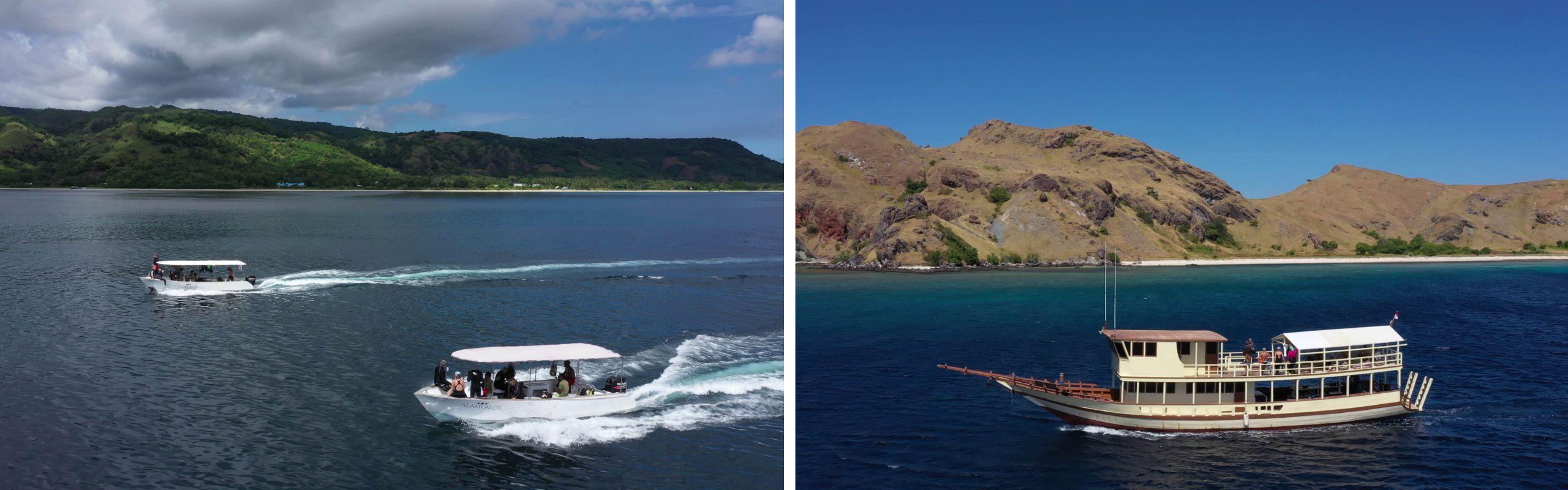 Komodo Resort and Alami Alor's snorkeling boats