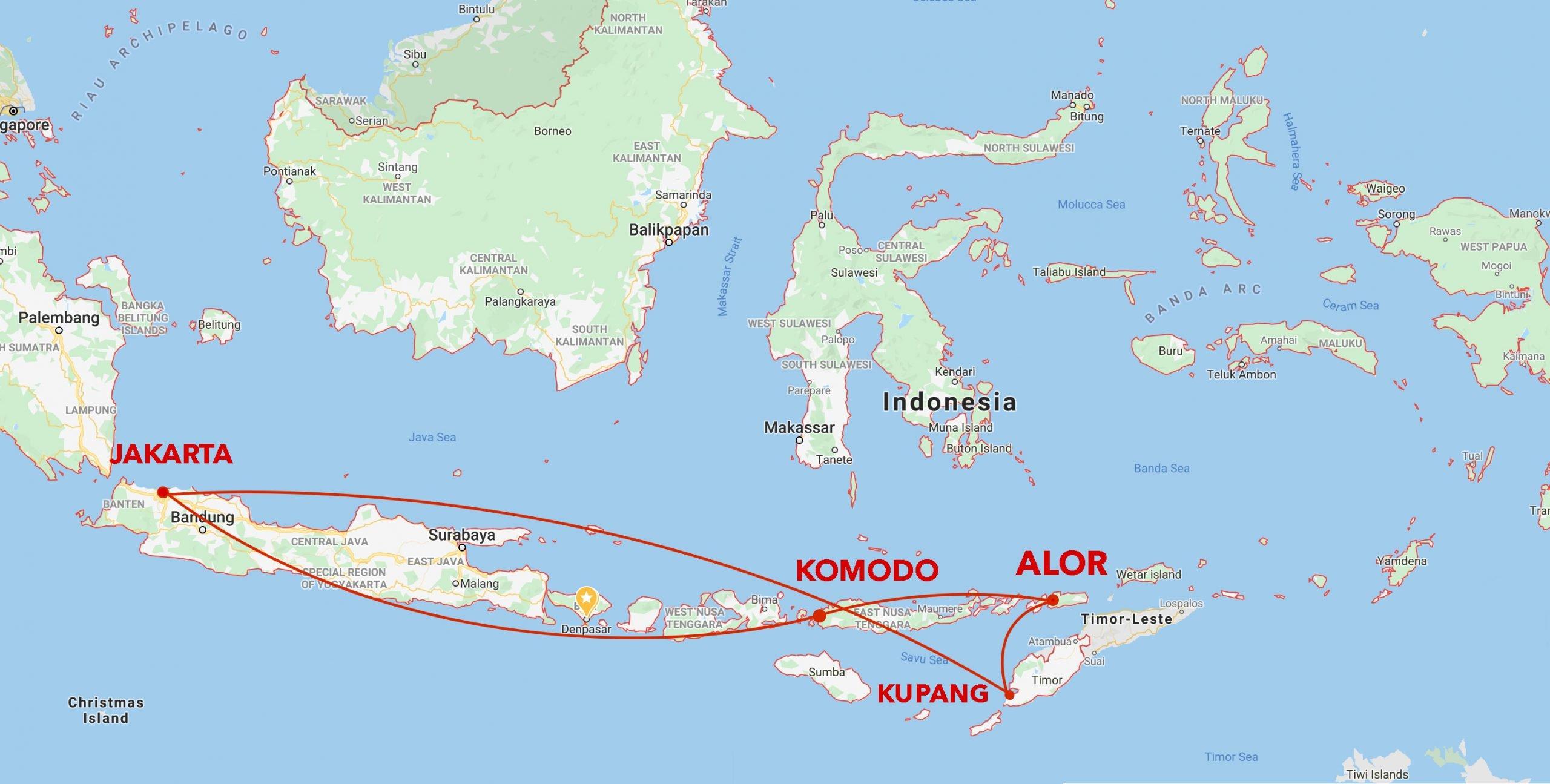 Alor-Komodo Itinerary