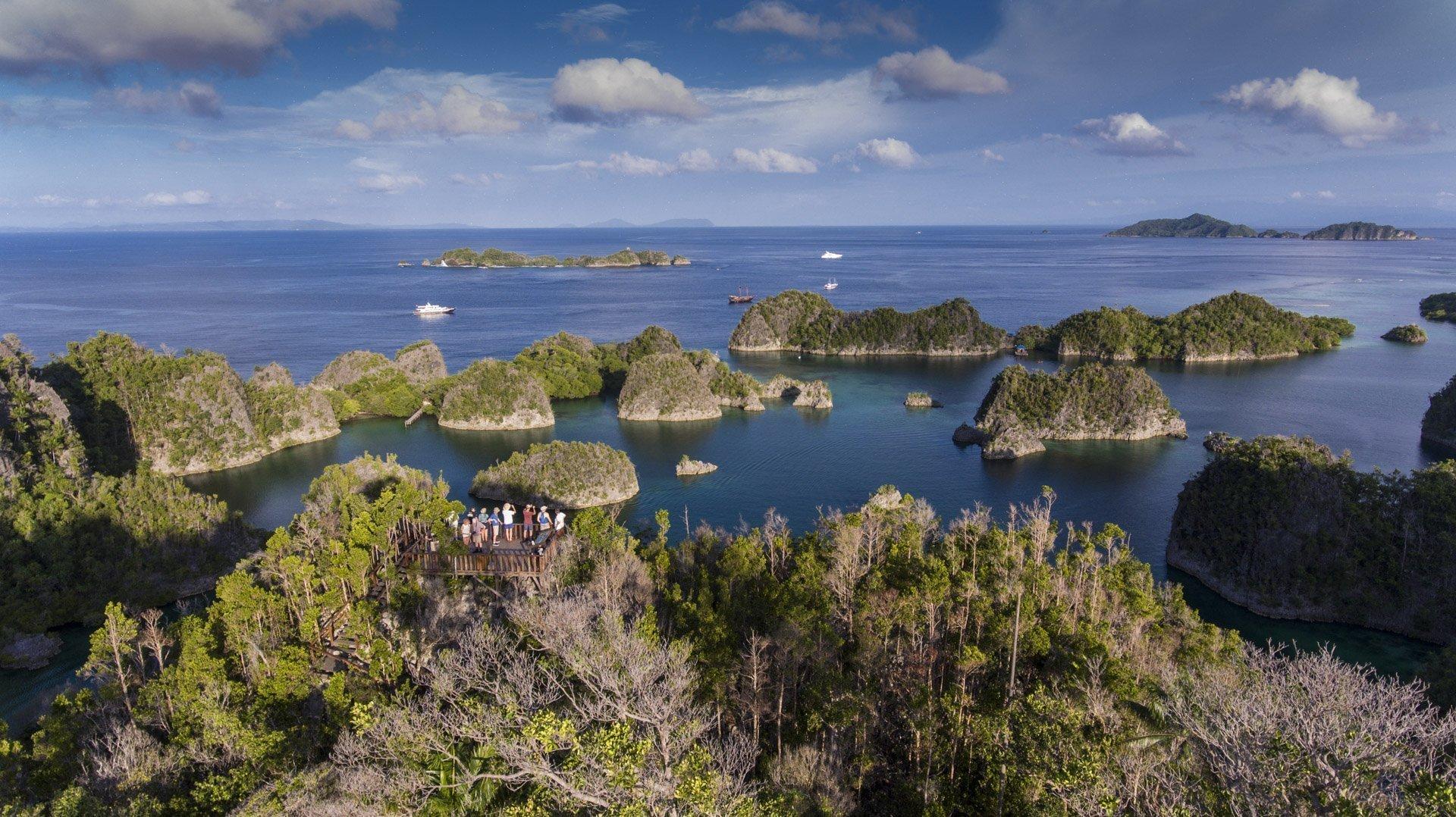 Aerial view of Raja Ampat Islands