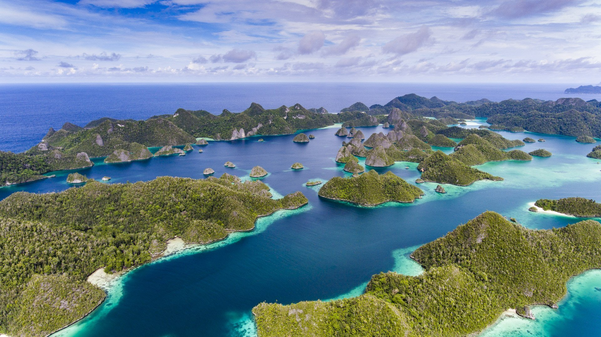 Aerial view of Raja Ampat Islands