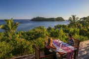 breakfast with a view in french polynesia