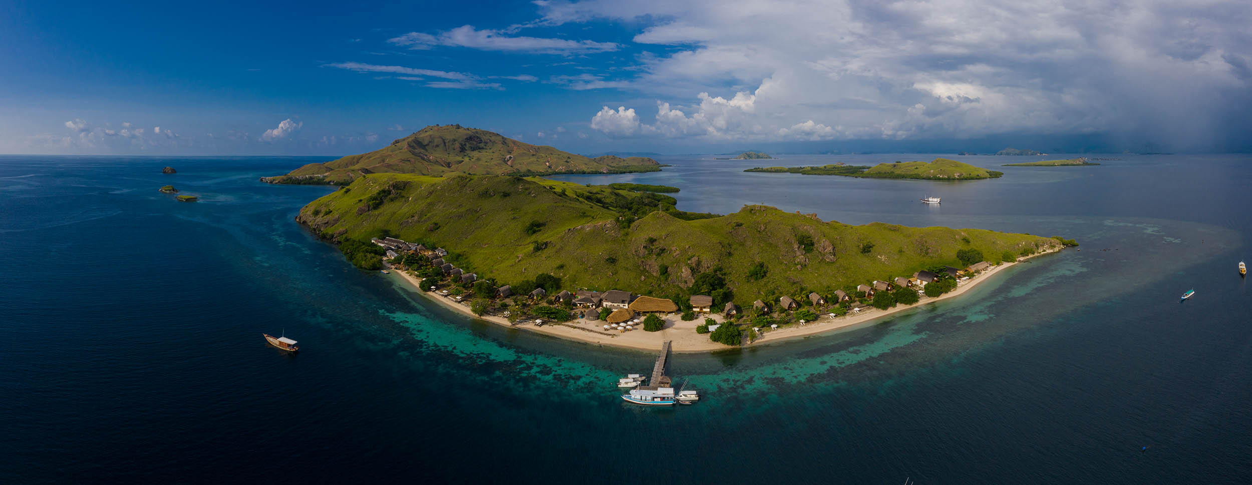 Komodo Resort Aerial Perspective