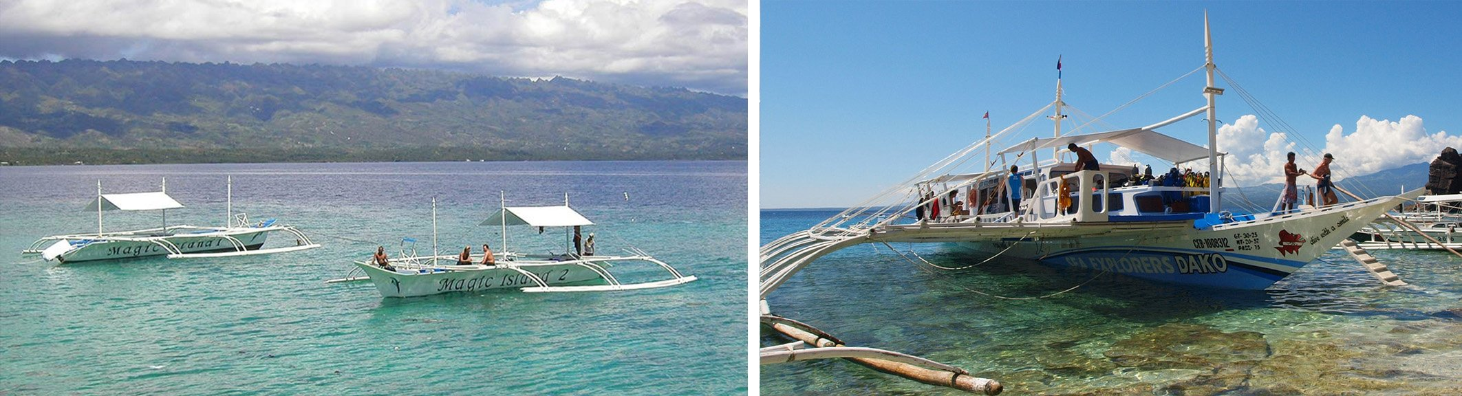 Magic Island and Sea Explorers Snorkel Boats