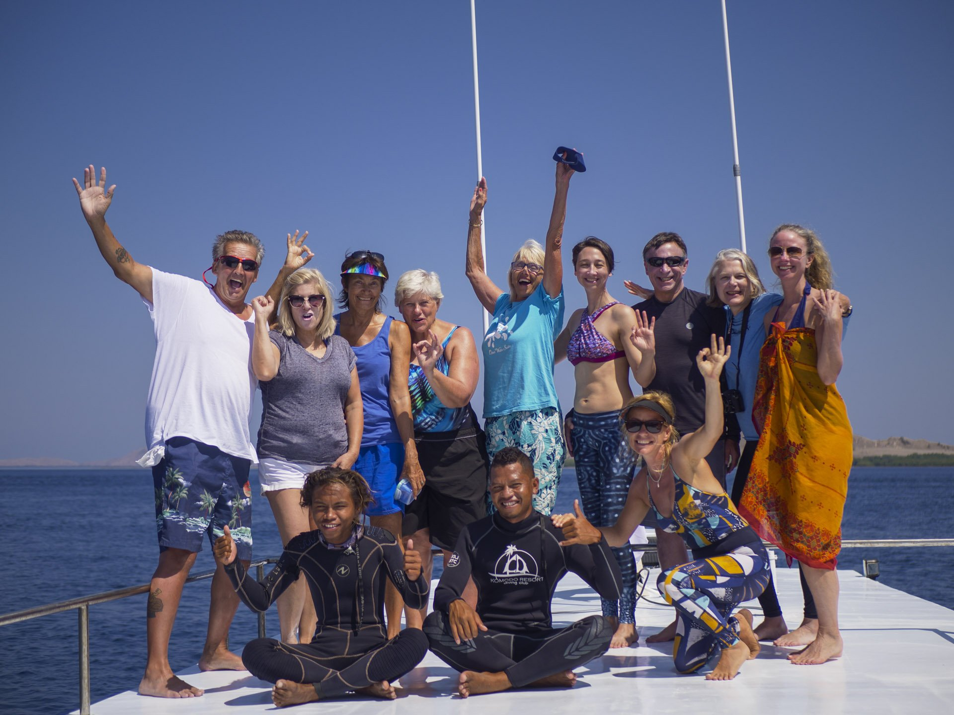 Group Photo of happy Snorkel Venture guests