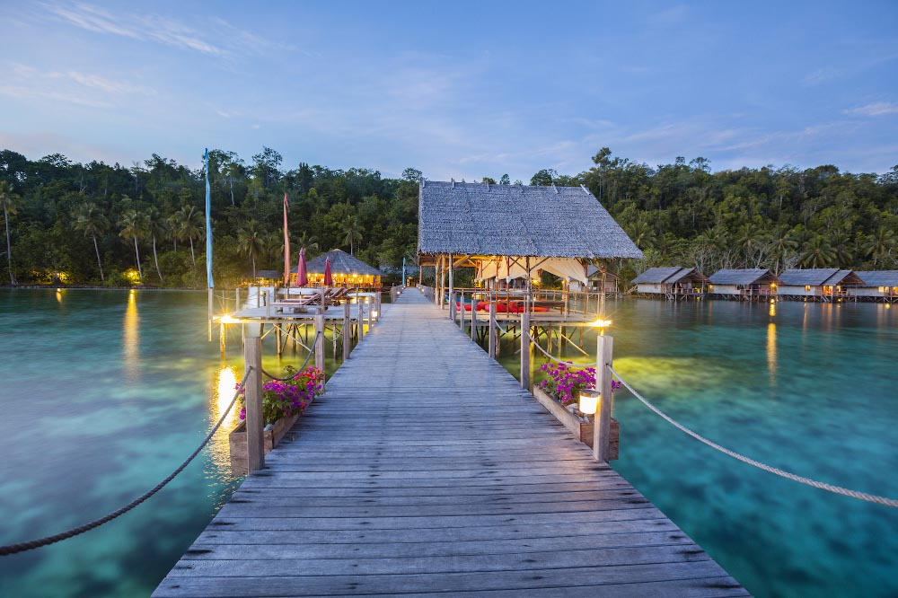 papua Explorers resort pier