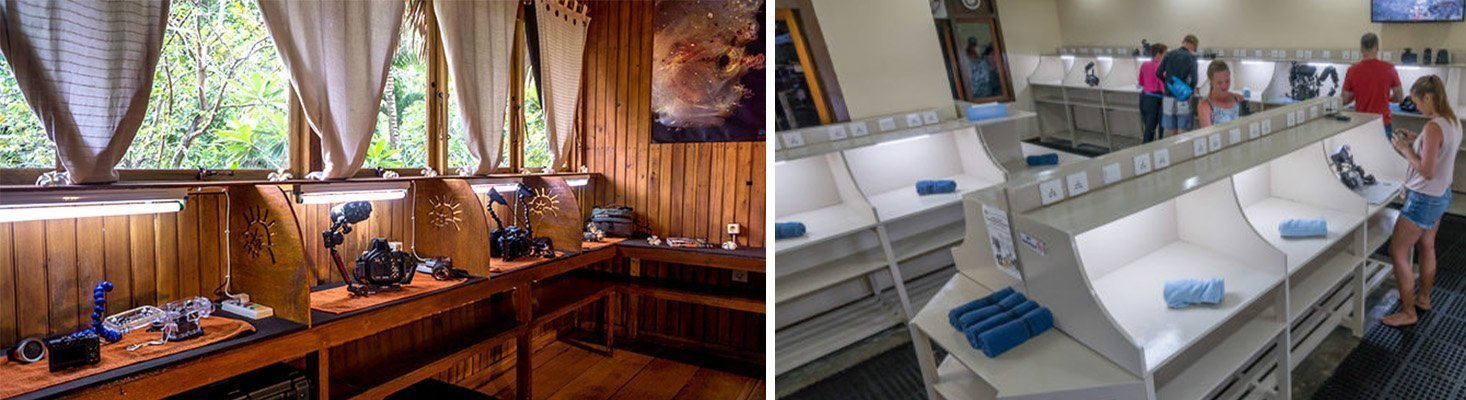 Siladen and Lembeh resort's secure camera rooms