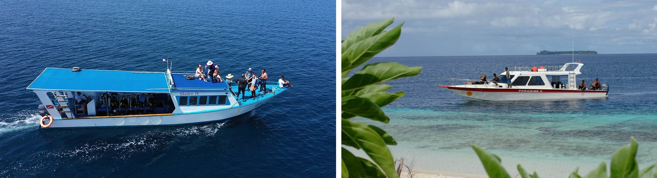 Siladen and Papua Paradise snorkel boats