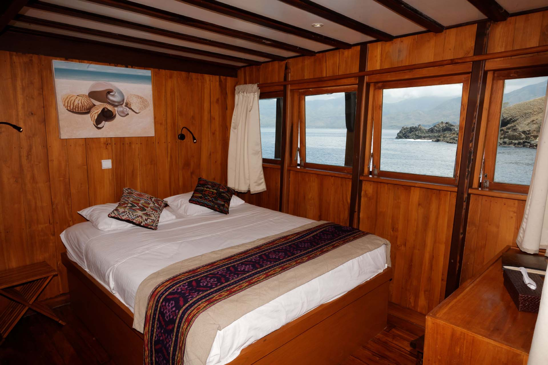 View of Amira Liveaboard from the bedroom