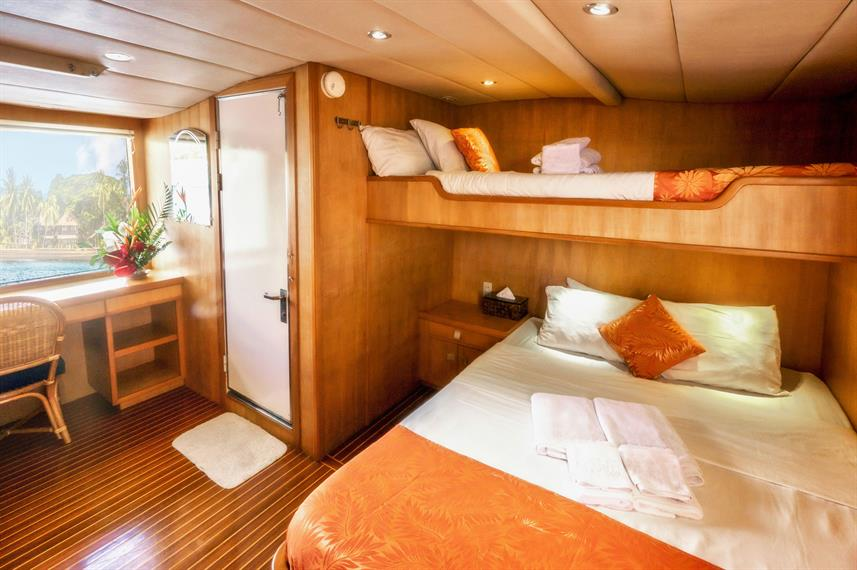 Interior view of cabins on Altantis Azores Liveaboard