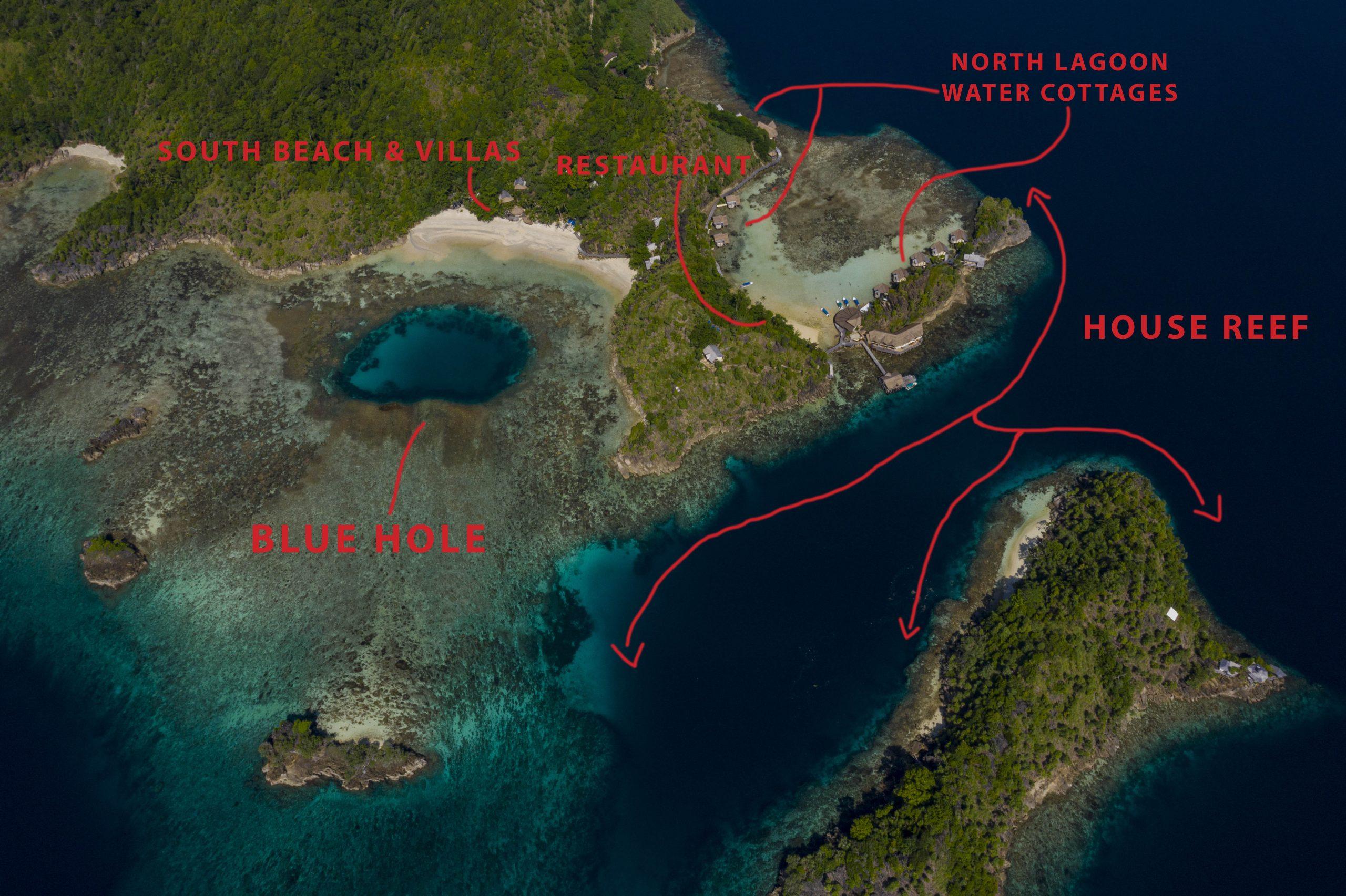 Misool Resort Map