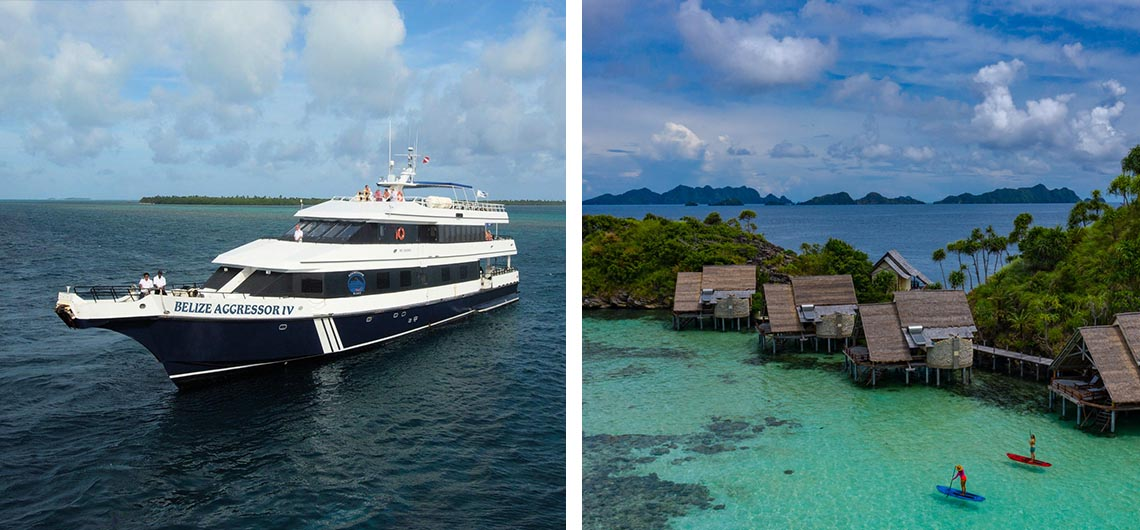 Liveaboard and resort