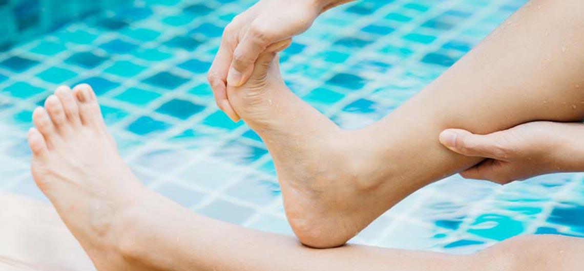 Leg cramp swimming